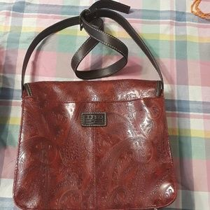 Relic red leather purse